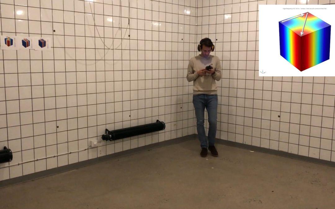 Resonancia y modos propios de un recinto, videotutorial de Juan Negreira (Ecophon)